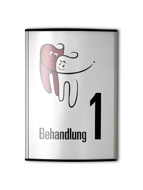 Beschilderung der Praxisräume für den Standort Rheine